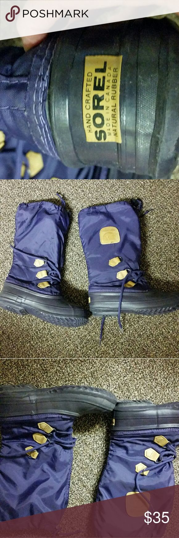 Sorel winter boots...Purple...Moving Sale! Size 8.....used but good condition. ..... Sorel Shoes Winter & Rain Boots