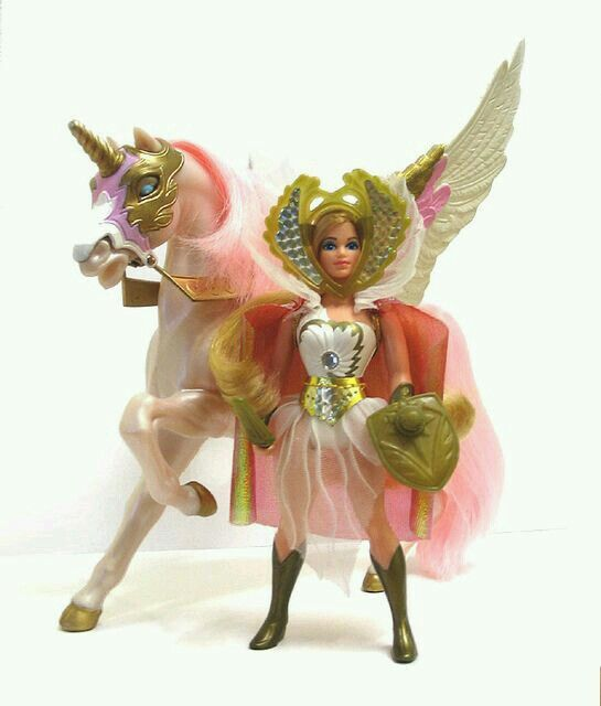"""For almost 3 years straight (birthdays & Christmas) I only wanted She-Ra (Swift Wind as a bonus) as my gift. Never got her until the 3rd Christmas when Santa came rolling down our street for the parade. He asked me """"did I get the doll (um action figure) yet"""" ? I told him no, then he reached in his bag and pulled out She-Ra. So for those who say Santa ain't real....forget you. Lol   G ;)"""
