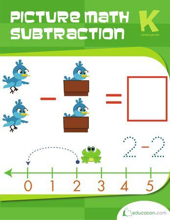 Make math visual with this Kindergarten math workbook.