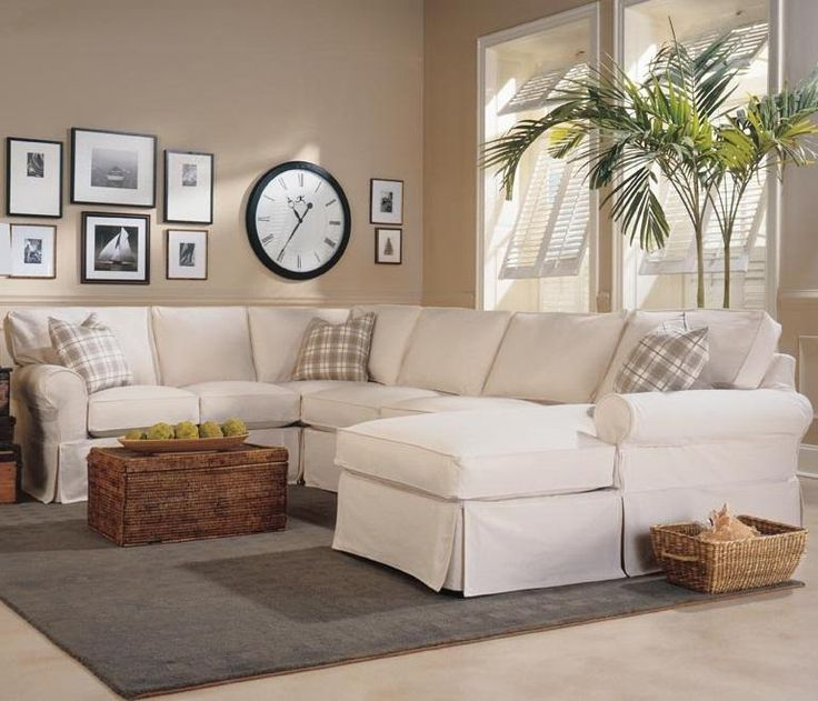 Masquerade Slipcover Sectional With Chaise By Rowe