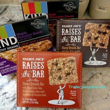 Trader Joe's | Raises the Bar | 6.2oz $2.79 | トレーダージョーズ | レイズ ザ バー グラノーラバー | #traderjoes #bar #granola #granolabar #energybar KIND | Healthy Grains Granola Bars | 6.2oz $3.00-4.00 | カインド | ヘルシーグレイン グラノーラバー #kindbar #kind #healthy #bars