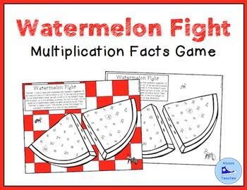 Are you looking for a no-prep multiplication facts game? This summer-themed game allows students to practice their 1-6 multiplication facts. This is a fun, quick game to play with an easy clean-up!