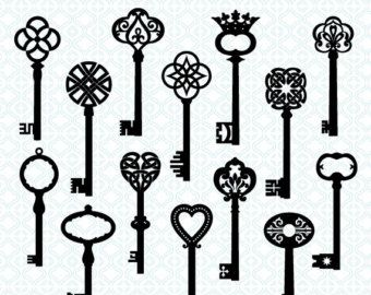 Skeleton Key Art - Cliparts.co