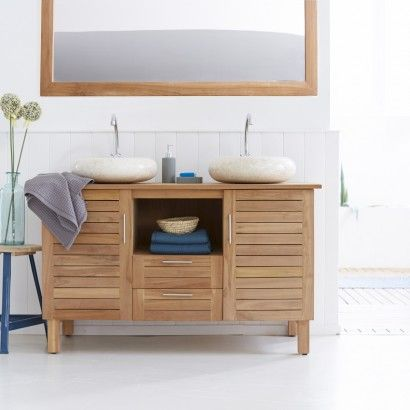 die besten 25 waschtisch teak ideen auf pinterest doppelbadezimmerwaschtische teak. Black Bedroom Furniture Sets. Home Design Ideas