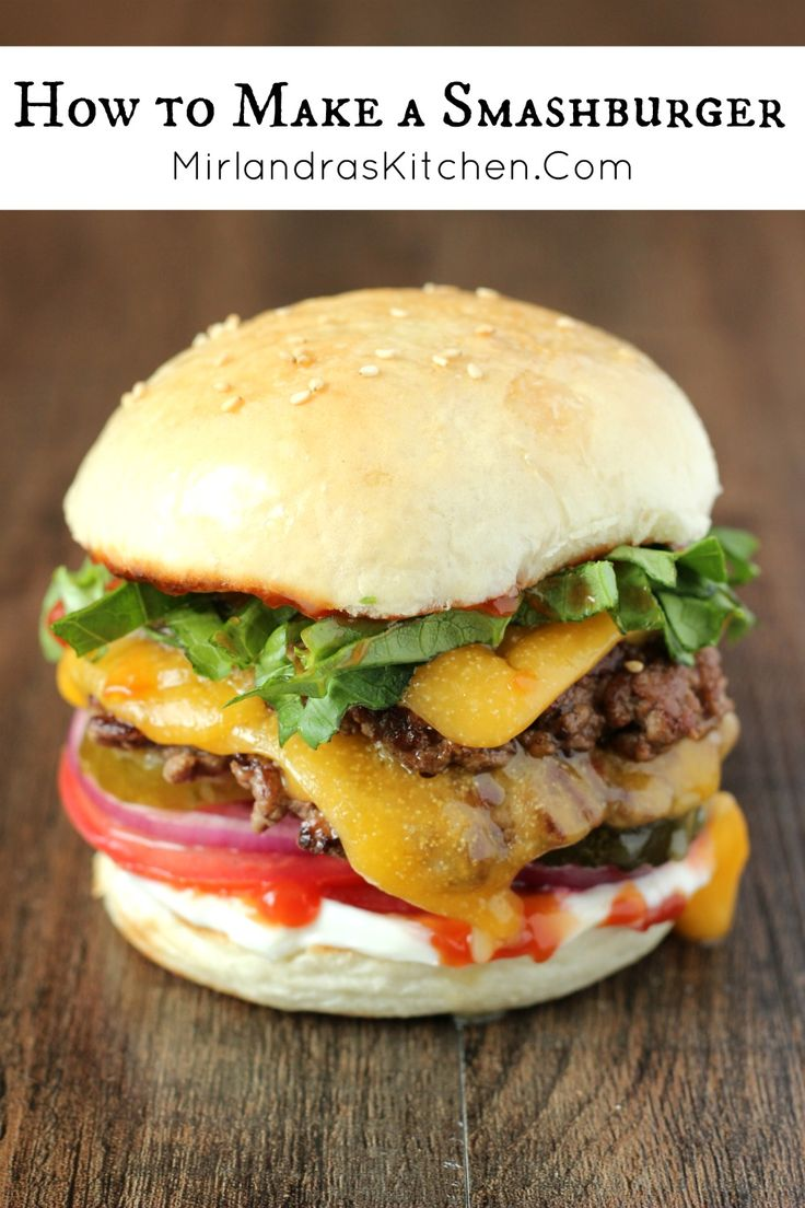 We love to make these incredible Smashburgers with crispy edges and decadent flavor. They are quick and delicious for dinner or a party!