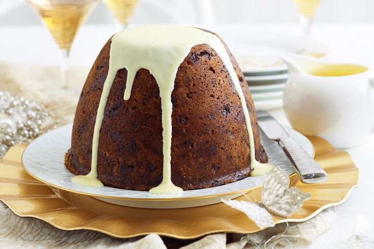 Christmas inspiration - Fig and muscat pudding with orange custard http://ow.ly/exfcD