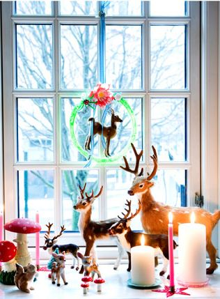 Cute reindeer and candles display for Christmas or just wintertime...
