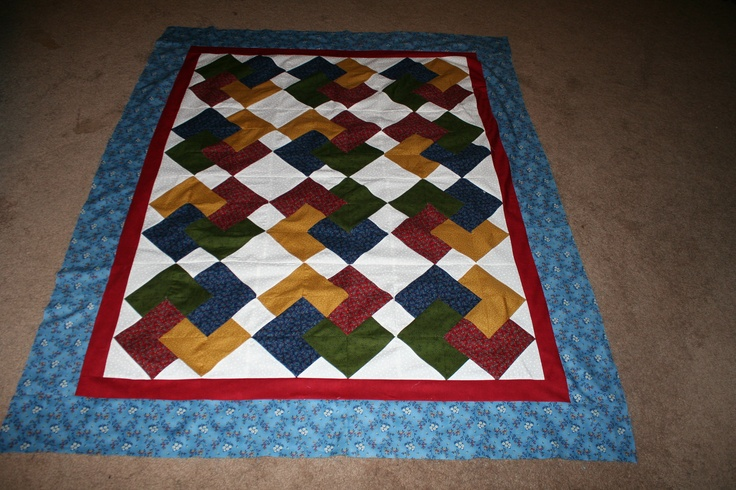 Quilting Pattern Card Trick Block : Card Trick Quilt Pattern. It was very hard for me to make. Quilts Pinterest Quilt, Card ...