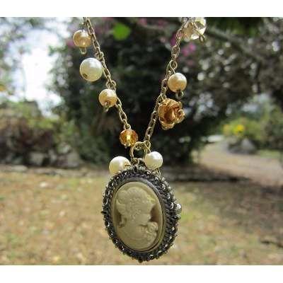 Collares Mujer Reloj Vintage Tipo Relicario Joyas De Moda Reloj de Bolsillo Camafeo  Accesorios para mujer