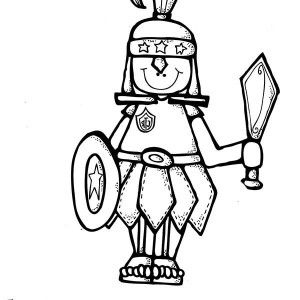 Armor Of God Put On The Whole Coloring Page