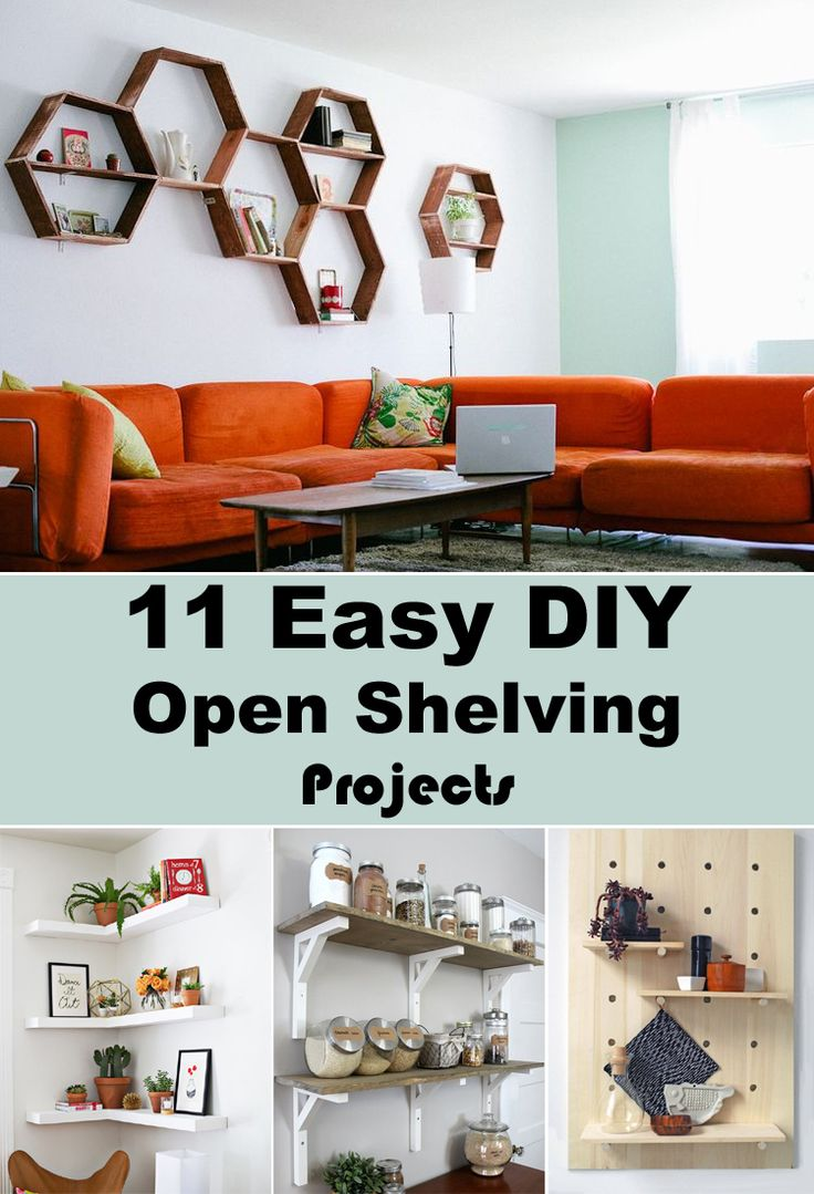 11 Easy Diy Open Shelving Projects For Any Room Open