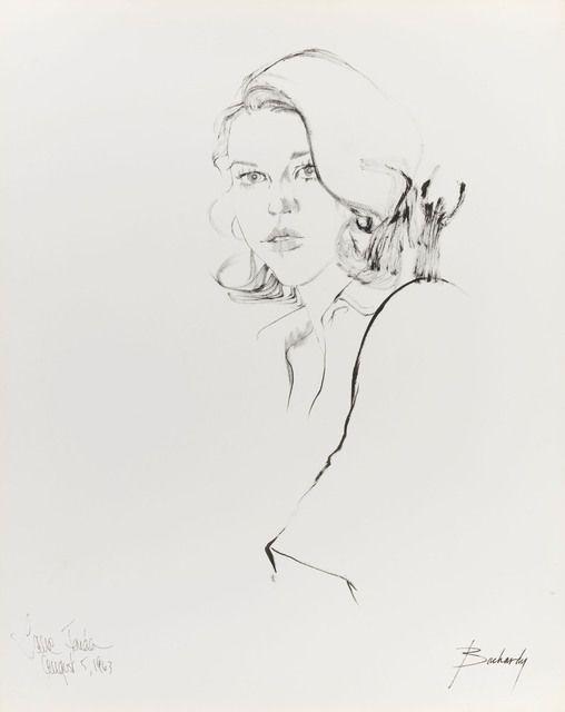 Don Bachardy, Jane Fonda, 5 August 63