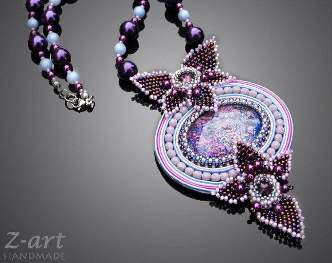 Soutache necklace Aquilae