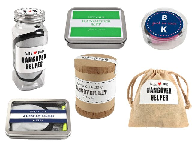 These Hangover Kits From Gifts For The Good Life Are Perfect Wedding Favors Get 20
