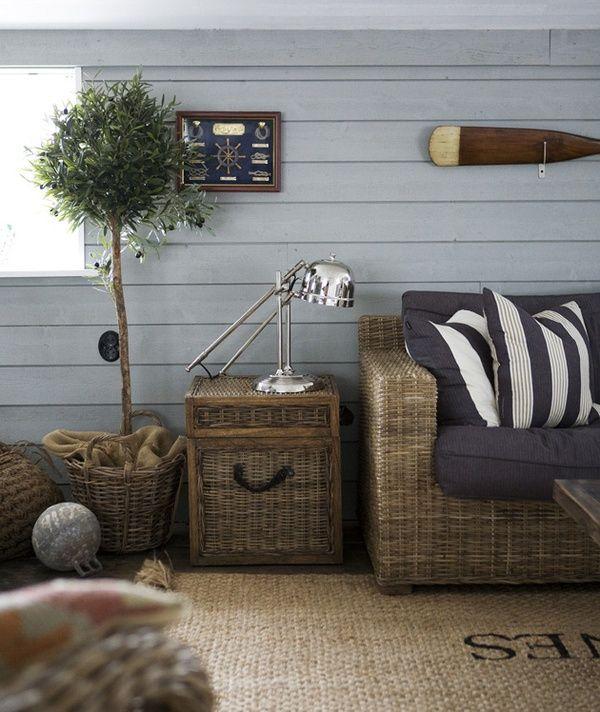 A cozy #coastal interior! #beachhouse