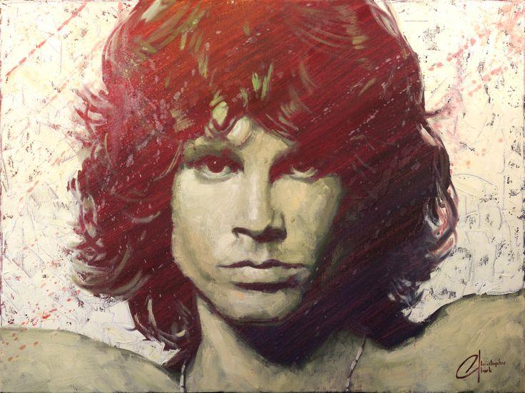 """Jim Morrison"" - Original by Christopher Clark - The Incredible Art Gallery"