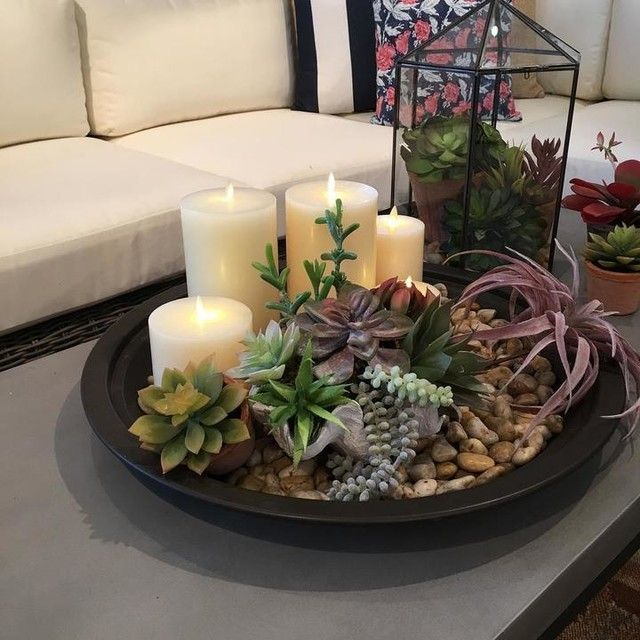 In Looooove With This Succulent Candle Piece For The Table Dining Room Table Decor Table Decor Living Room Beautiful Dining Room Table
