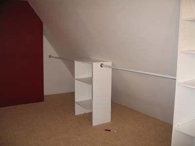 attic open concept closet