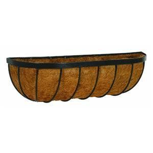 Gardman R942 24-Inch forge Wall Trough Planter by Gardman. $17.35. Replacement liners available. Black frame. Wider, deeper and better. Heavy gauge steel strip with a strong coating to avoid rust. Complete with molded coco fiber liner attached to basket. Gardman usa r942 24-inch forge wall trough planter