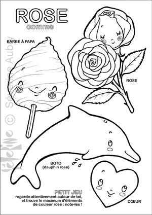 rose - coloring - cute