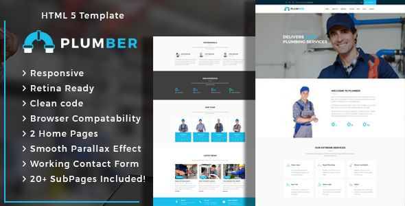 Plumber - Plumbing and Construction HTML Template