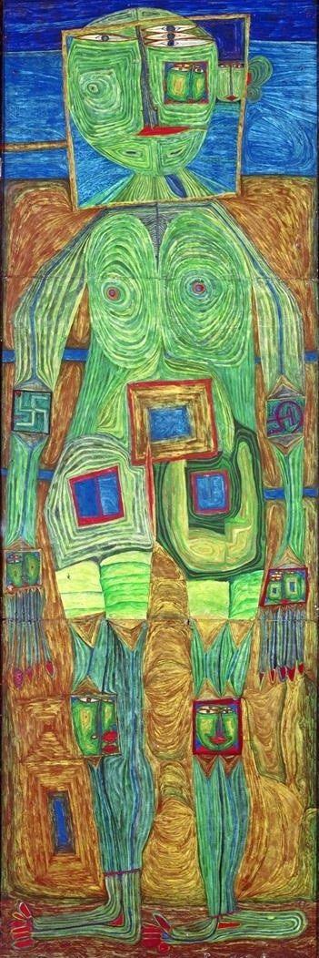 The green woman - Friedensreich Hundertwasser (1928-2000)