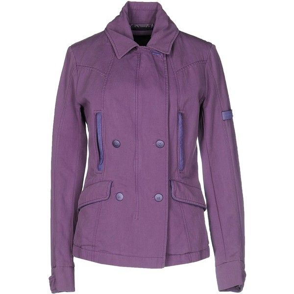 Piquadro Blazer ($415) ❤ liked on Polyvore featuring outerwear, jackets, blazers, mauve, zipper blazer, purple blazer jacket, purple jacket, long sleeve jacket and single breasted jacket