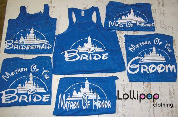 Bridal set of Tanks bridal shower tank tops by Lollipopclothing