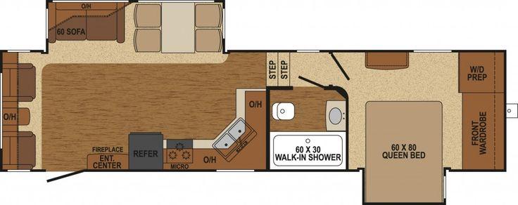 Augusta Rv Floor Plans: AF-32RL - 5th Wheel