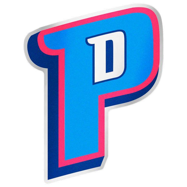 "WinCraft Detroit Pistons 7.5"" x 4.25"" Auto Emblem Decal - $4.79"