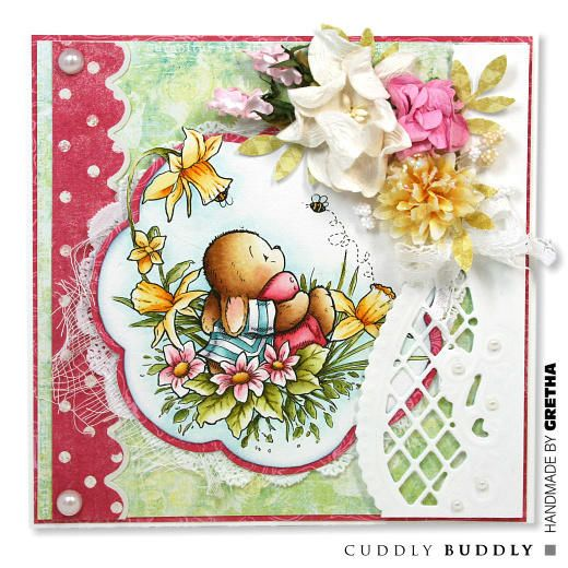 Pachela Studios Digi Stamp - Toby Tumble Happy Easter < Craft Shop   Cuddly Buddly Crafts