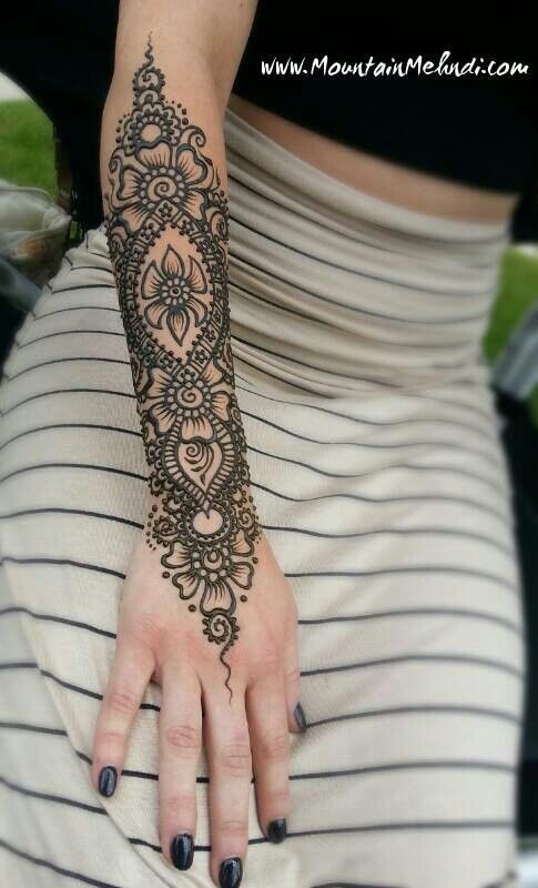 Arm henna by mountain mendhi