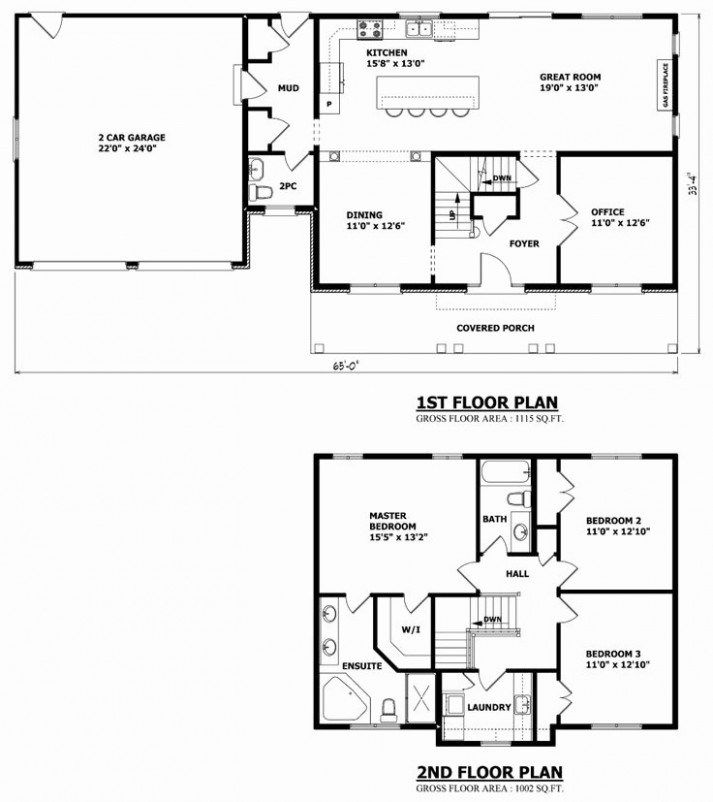 Southern Style House Plan 3 Beds 2 Baths 1587 Sq Ft Plan 44 151 Floor Plans Ranch New House Plans House Blueprints