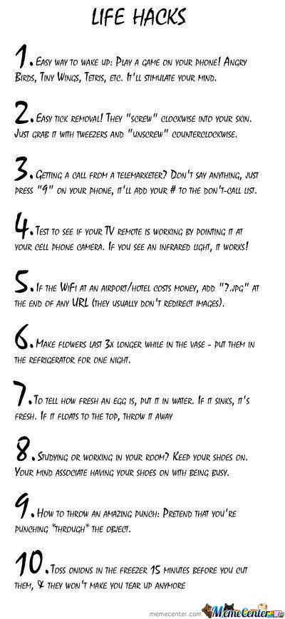 Ten Secrets of life.  Wonder how many are true.