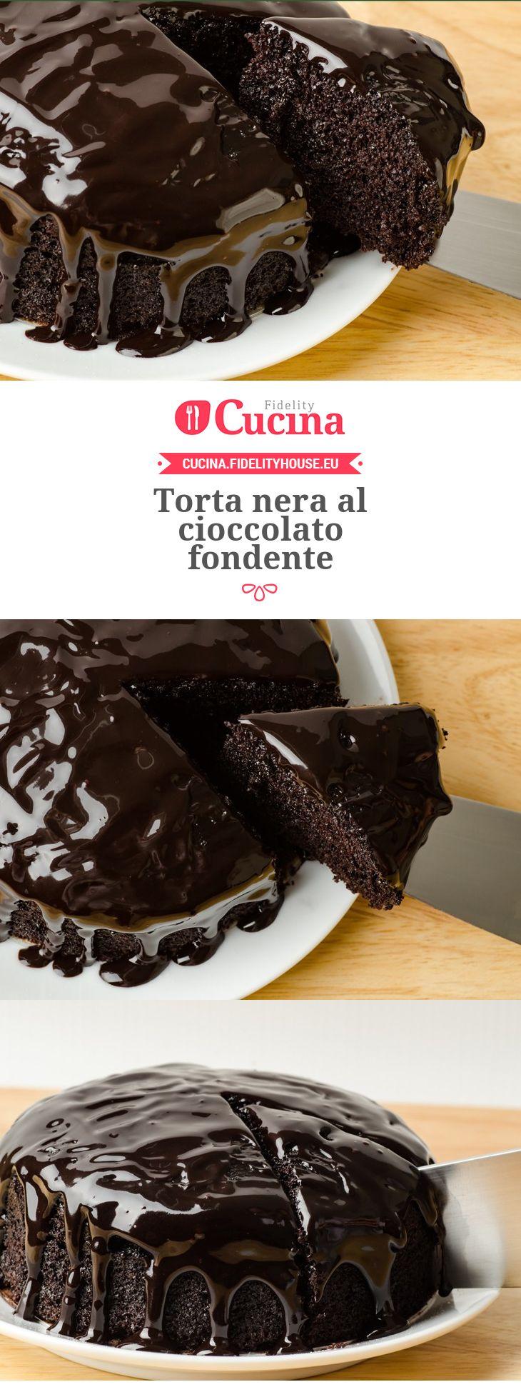Torta nera al cioccolato fondente