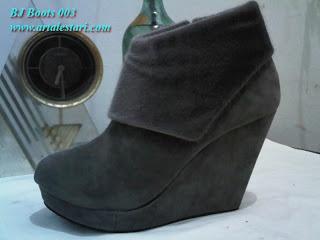 Sepatu Boots Wedges Wanita - Sepatu Boots Wanita
