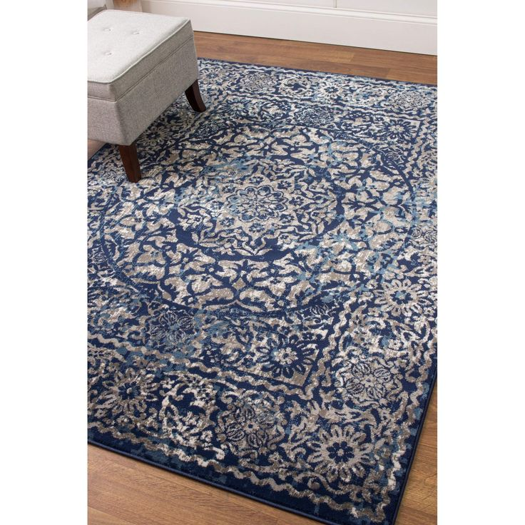 Transitional Rug Blue & Gray High Quality Carpet Nylon  #rugs #carpet #floors #diy #myhome #fab #instahome #arearugs #decorating #decor