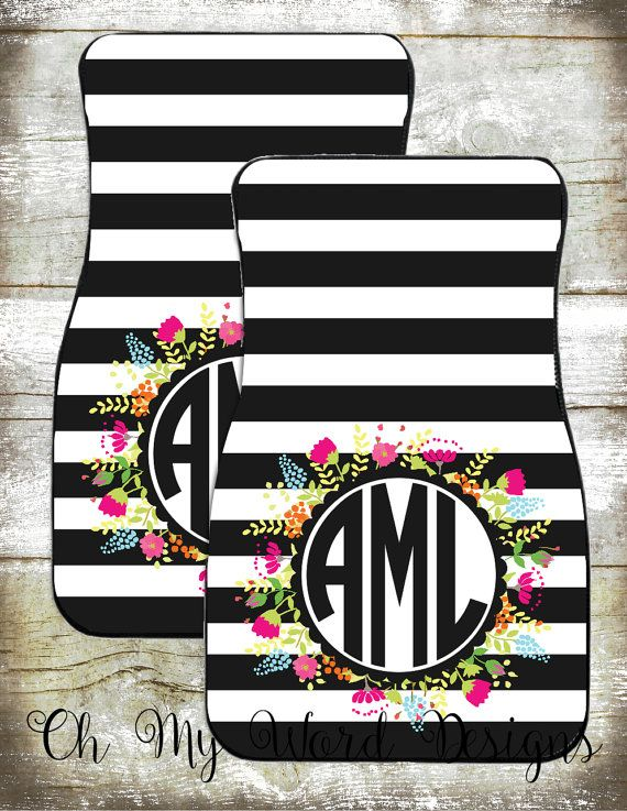 Monogram Car Mats-Car Accessories-Car by OhMyWordDesigns on Etsy