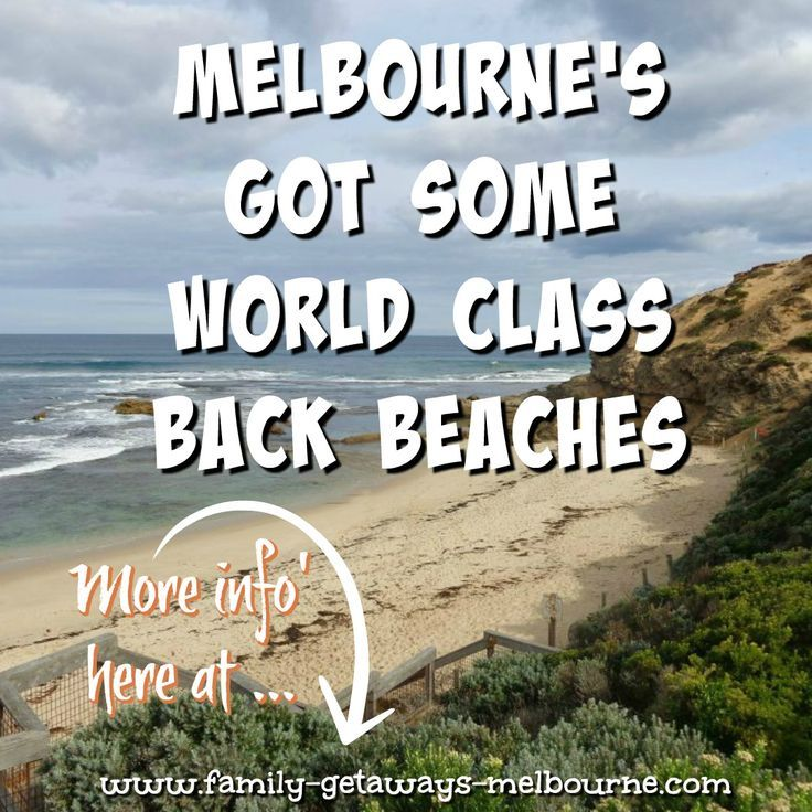 Eastcoast and Westcoast from the Melbourne CBD - beaches make the best fun any time of the year!