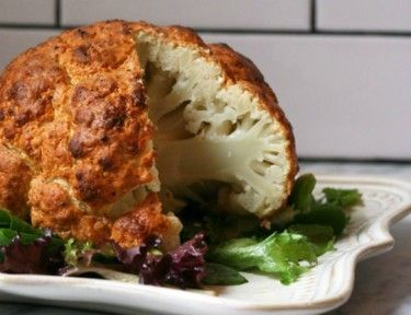 cauliflower   Spicy Whole-Roasted Cauliflower Will Rock Your Dinner Table