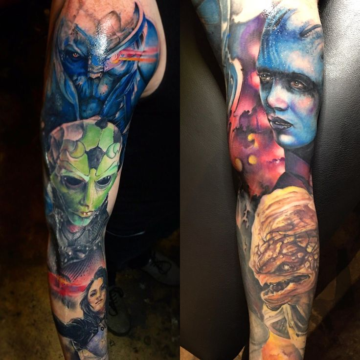 Mass Effect sleeve by Jeff Hubbard at Revolution Ink in Pelham Alabama.