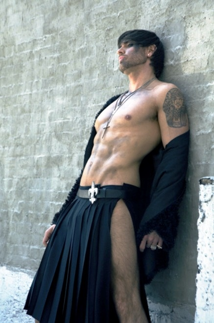 I do love a man in a kilt.