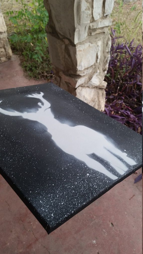 Harry Potter Patronus Stag 16 x 20 hand-cut and by SATexasCraft