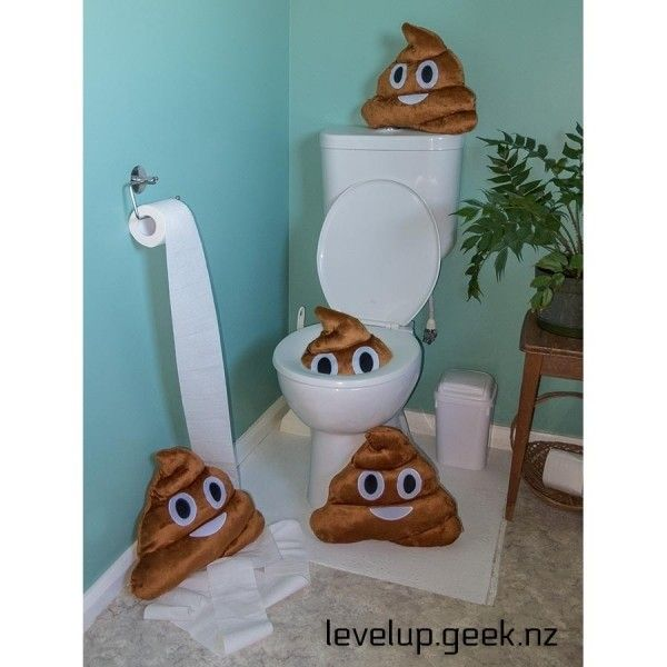 Emoji Pillow / Emoji Cushion - Poop  from LevelUp.Geek.NZ  - Canterbury - List Sell Trade tooooooo many piles of poo