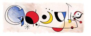 Joan Miro's Birthday Google (April 20, 2006) - Spanish surrealist painter/sculptor