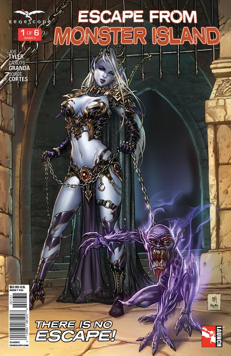 Zenescope Comic Books Escape From Monster Island 1
