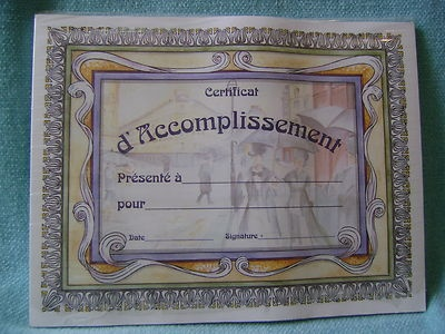 Caillebotte French Award Certificates by  Instructional Fair TS Denison
