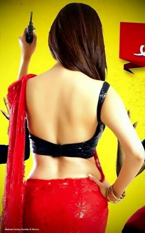 aunty blouse Sexy Desi back