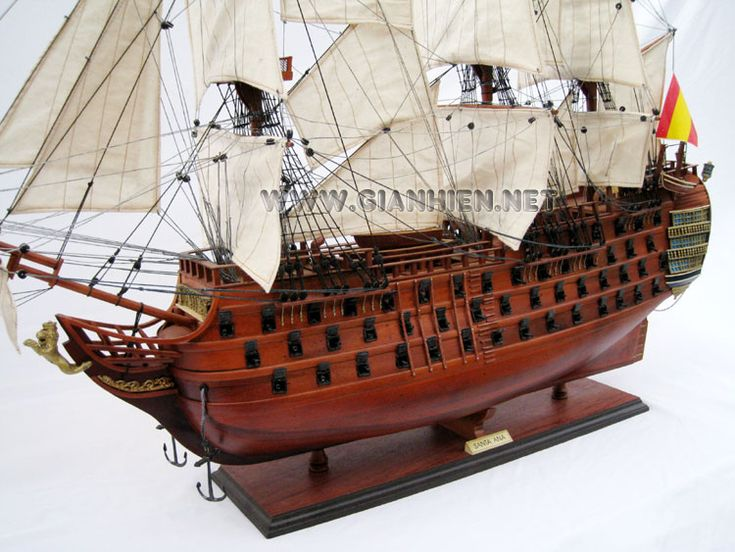 The Santa Ana was built at El Ferrol, Spain in 1784.  She was a prototype of a series of 8 ships and carried 112 guns.