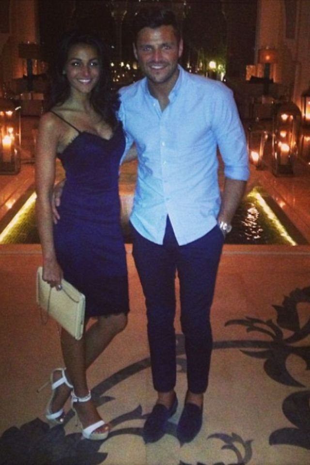 Michelle Keegan (in Lipsy dress) and Mark Wright